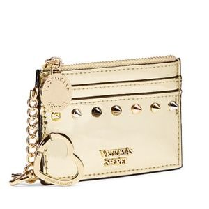 Gold Studded Victoria's Secret Key Card Case